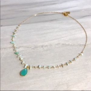 Jewelry - 🌟Amozonite Crystal Gold Plated Chain Necklace🌟